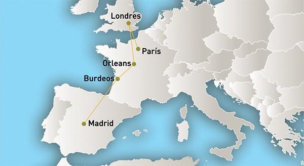 Capitales Eternas - Paquetes a Europa desde México paquetes a europa desde méxico Capitales Eternas Capitales Eternas mapa