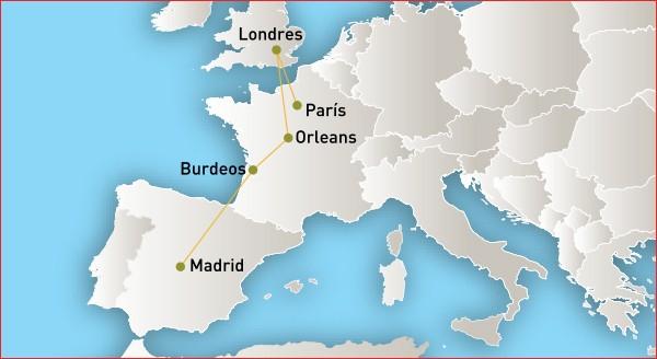 Glamour en Europa - Viajes por Europa desde México Viajes por Europa desde México Glamour En Europa Glamour en Europa mapa
