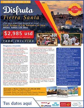 Disfruta Tierra Santa a tan solo 2985 usd  Anuncios flyer 7